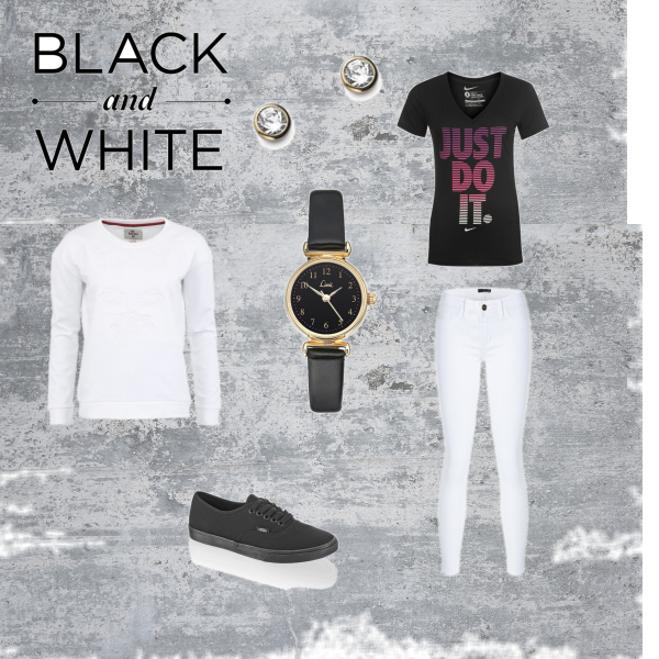 9. outfit (BLACK & WHITE)