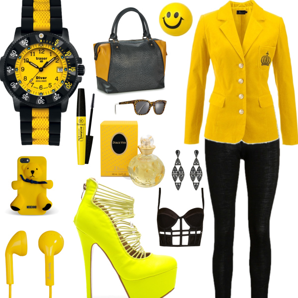 Black and yellow ! smiley style :)