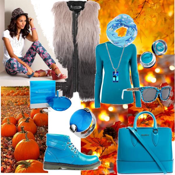 podzim s modrou