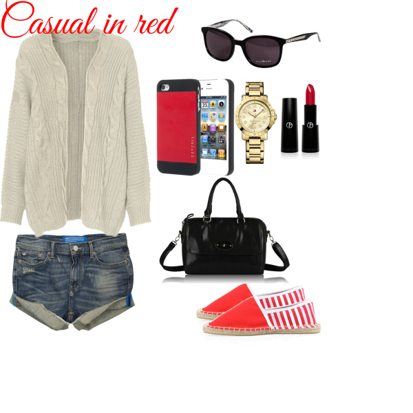 Casual in red