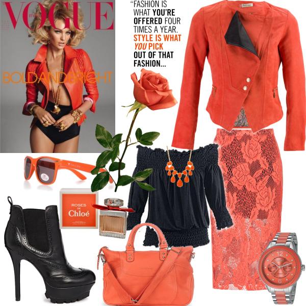 oranžová lady