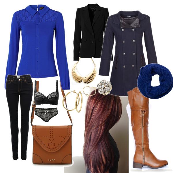 elegantní s modrou