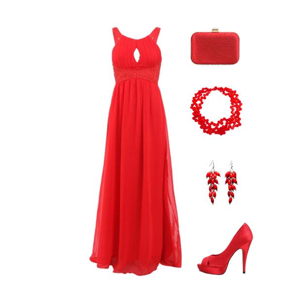 Červený set na ples