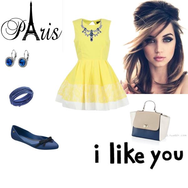 Elegance žluto-modré