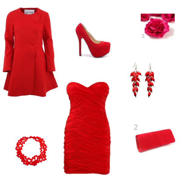 Červený set