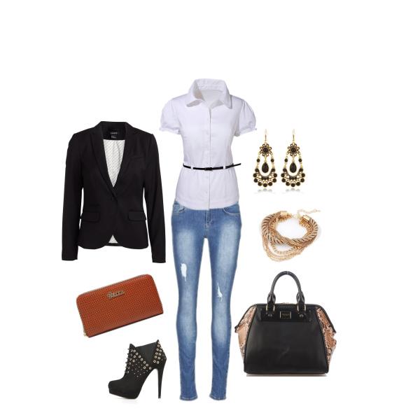 Elegantní outfit do práce či na schůzku