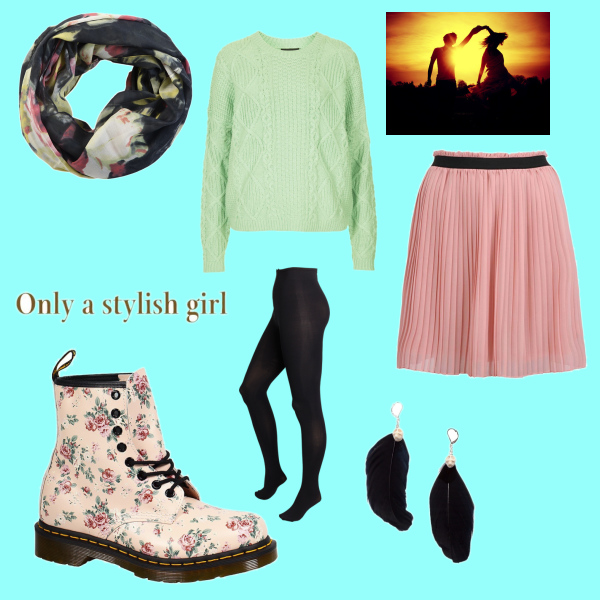 Only a stylish girl