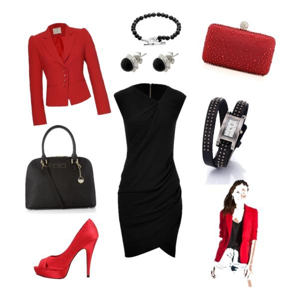 Černo-červená kombinace