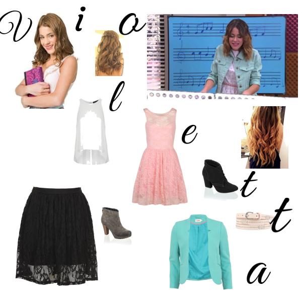 violetta další 2 styly jejího oblékání