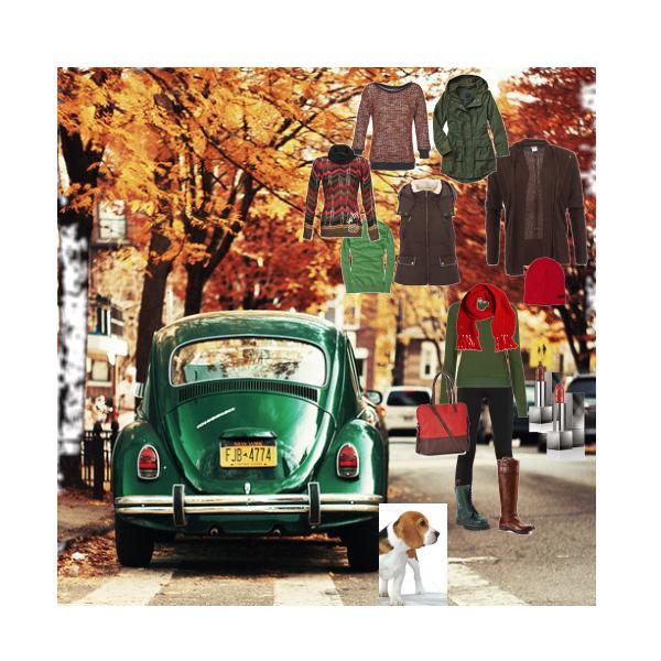 hnědo-zelený podzim