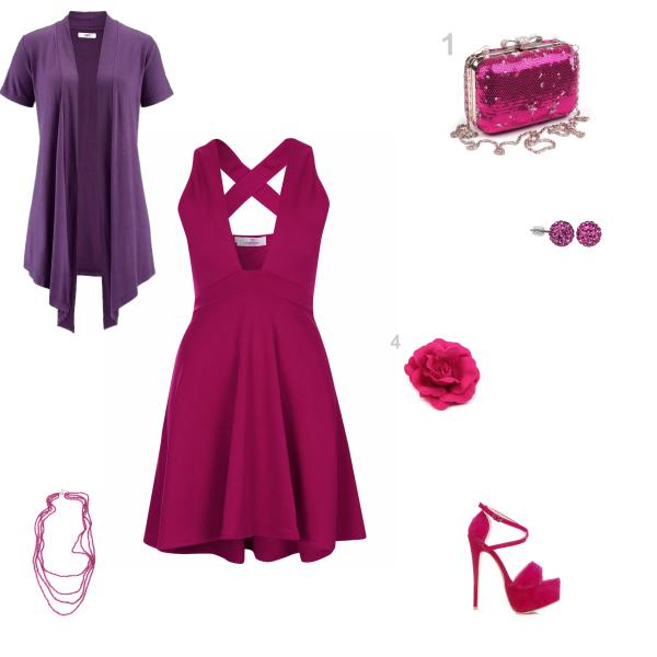 fialový set