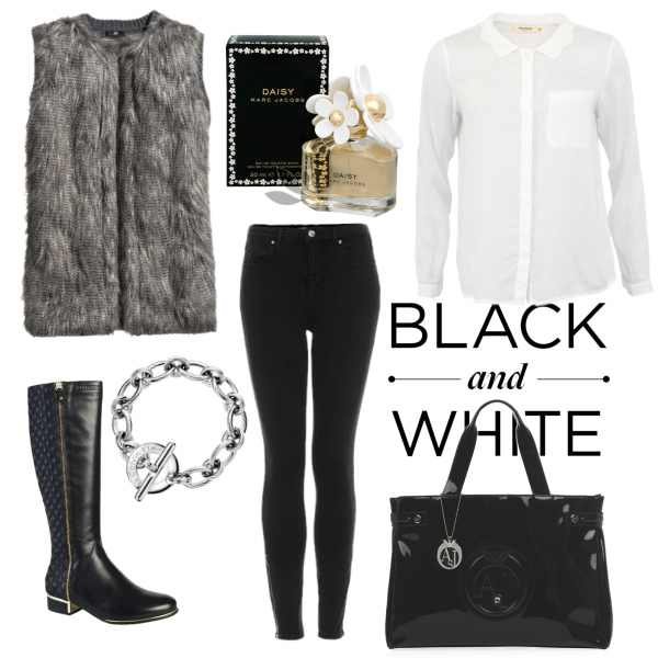 --Black and white--