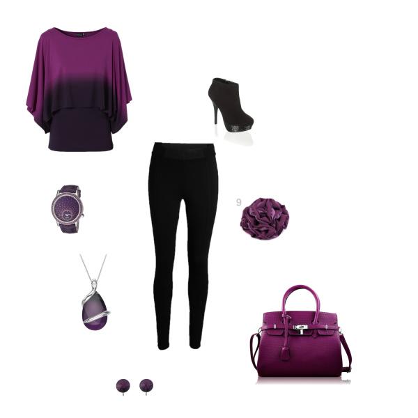 fialovočerná moda