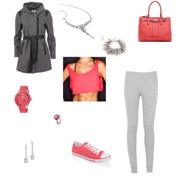 šedočervená moda