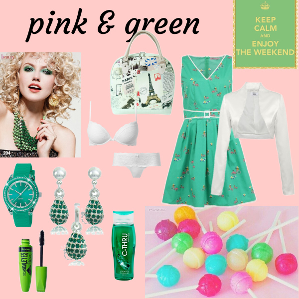 pink & green