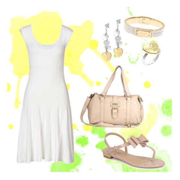 White-beige summer