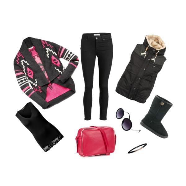 Růžovo černé :)