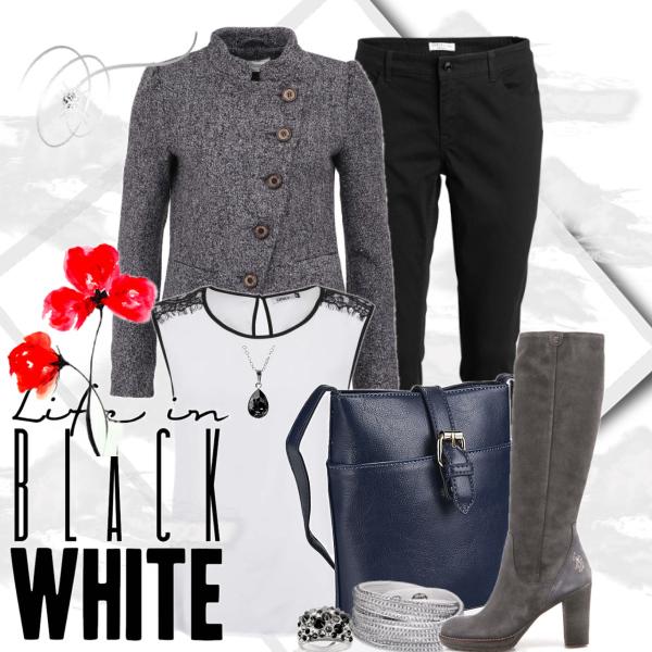 Black and white sparkling