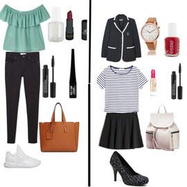 Tenue Look printemps  vs look  school sur Marina Bcr