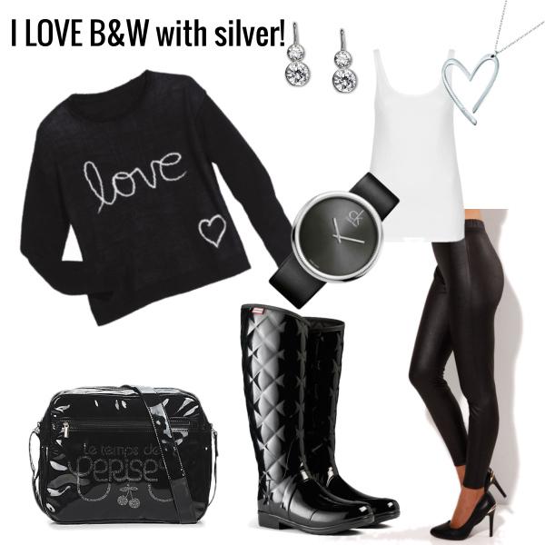 B&W + silwer