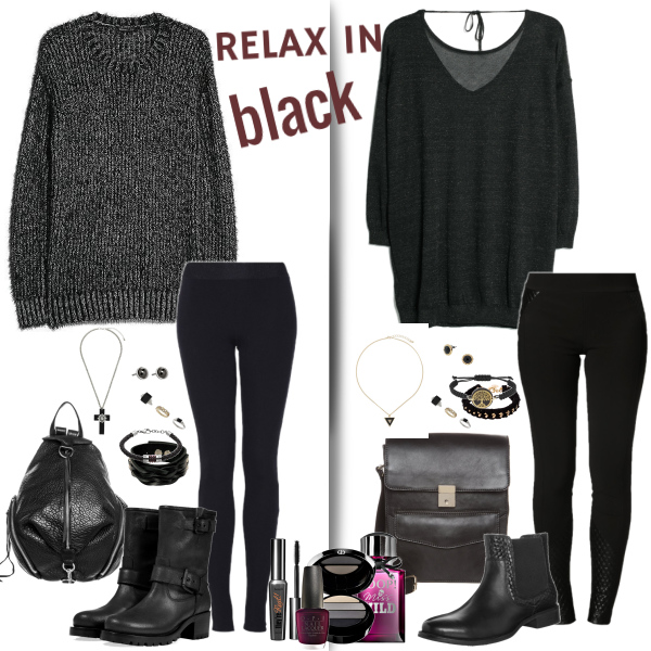 relax in black