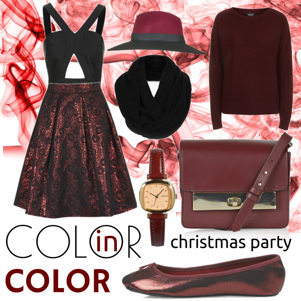 Color in color christmas party w/TOPSHOP