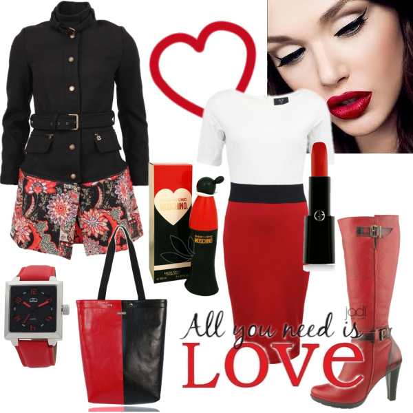 I love red and black