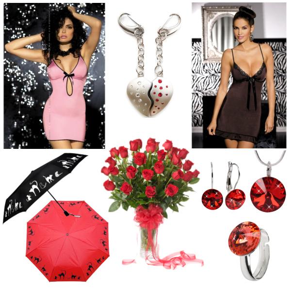 Rudé růže a dárek potěší každou ženu!