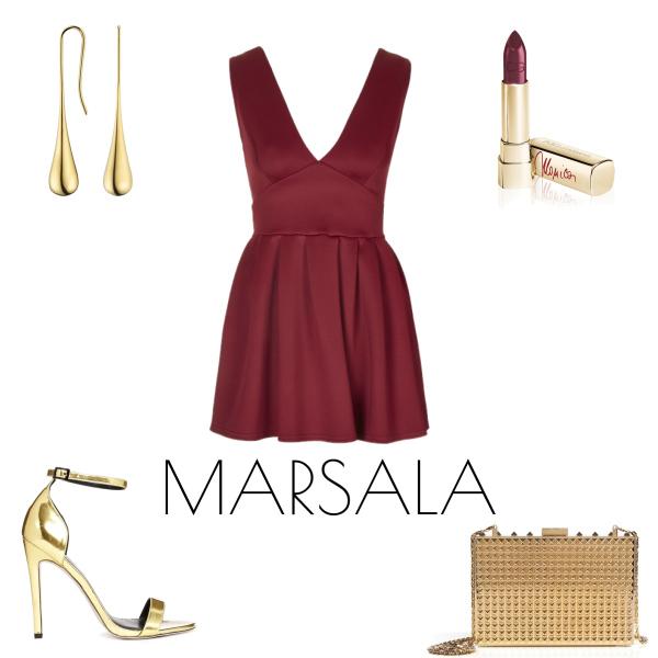 Pantone barva roku MARSALA