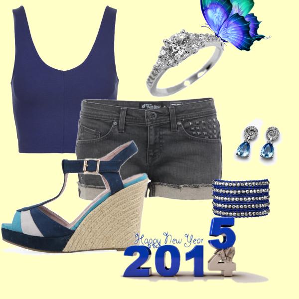 novoročná modrá