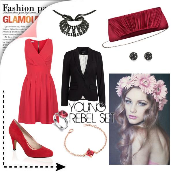 redandblack dress