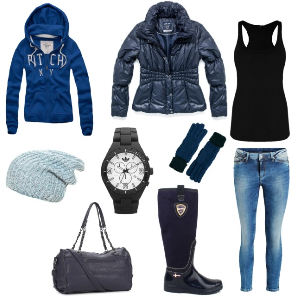 black-blue combination
