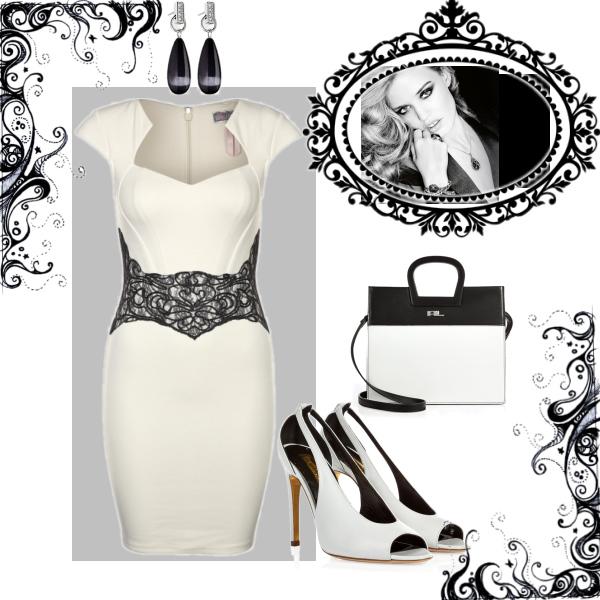elegant in schwarz weiß