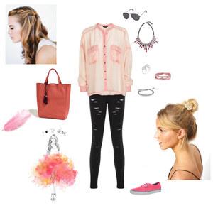 Outfit Rosa in den Frühling von HD