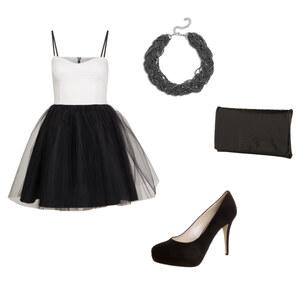 Outfit Black-white-partyoutfit von Hannah E. Schneider