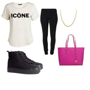 Outfit Pink-black-gold von Hannah E. Schneider