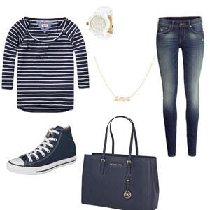 Outfit Blue-Glod von Hannah E. Schneider