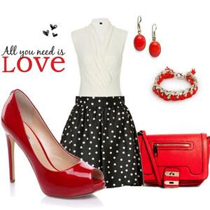 Outfit Rot-Schwarz-Weiß von eine_hexe
