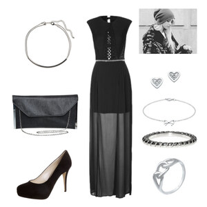 Outfit black Party von lookfurther