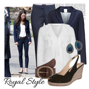 Outfit royal Style von Justine