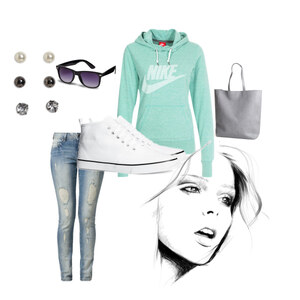 Outfit Casual in mint  von loveyourself <3