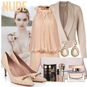 Outfit Nude set von Justine