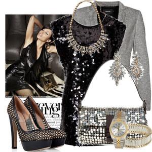 Outfit gold silver von Justine
