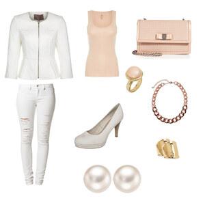 Outfit Weiß & Rosa von Ilayda Ua
