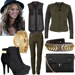 Outfit green/black day <3 von Nisa