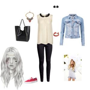 Outfit Jeansjacke  von HD