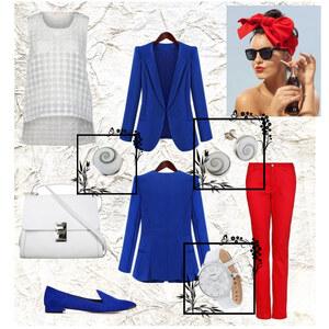 Outfit weiß, rot, blau von A.N.N.A