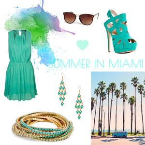 Outfit Miami Sunshine von Maria Giebe