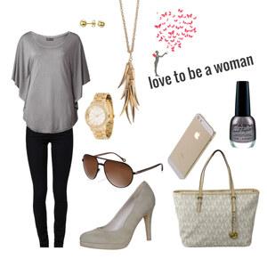 Outfit grau/schwarz/gold  von maike_muhr