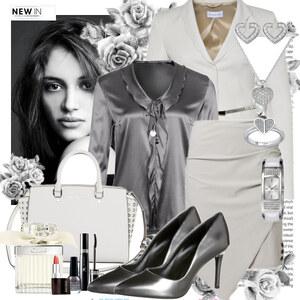 Outfit silver white von Justine